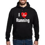 I Love Running Hoodie (dark)