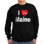 I Love Maine Sweatshirt (dark)