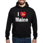 I Love Maine Hoodie (dark)