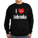 I Love Nebraska Sweatshirt (dark)