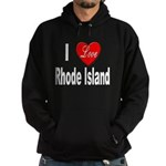 I Love Rhode Island Hoodie (dark)