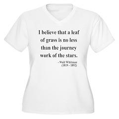 Walt Whitman 19 Women's Plus Size V-Neck T-Shirt
