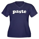 Paste Women's Plus Size V-Neck Dark T-Shirt