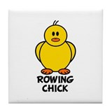 Rowing Chick Tile Coaster