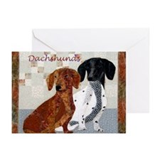 Quilted Dachshunds Greeting Cards (Pk of 20)