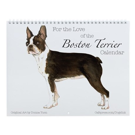 Boston Terrier Wall Calendar