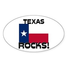 Texas Rocks! Oval Decal