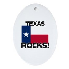 Texas Rocks! Oval Ornament