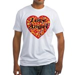 Love Angel Fitted T-Shirt