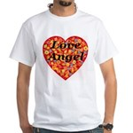 Love Angel White T-Shirt