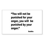 Buddha Anger Quote Rectangle Sticker