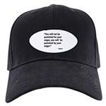 Buddha Anger Quote Black Cap