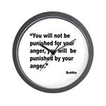 Buddha Anger Quote Wall Clock