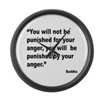Buddha Anger Quote Large Wall Clock