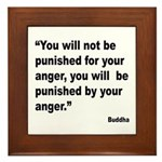 Buddha Anger Quote Framed Tile