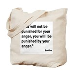 Buddha Anger Quote Tote Bag