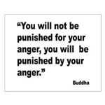 Buddha Anger Quote Small Poster
