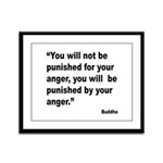 Buddha Anger Quote Framed Panel Print