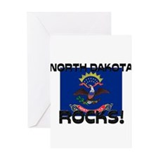 North Dakota Rocks! Greeting Card