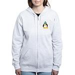 Clay Green Beanie Penguin Women's Zip Hoodie