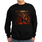 Firefighter Tribal Flames Sweatshirt (dark)