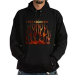 Firefighter Tribal Flames Hoodie (dark)