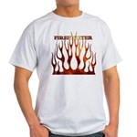 Firefighter Tribal Flames Light T-Shirt