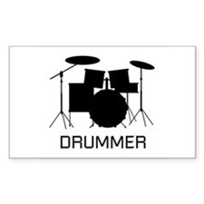 Drummer Rectangle Bumper Stickers
