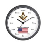 American Freemasons Wall Clock