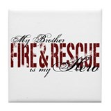 Brother My Hero - Fire & Rescue Tile Coaster
