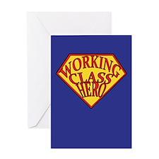 Working Class Hero Greeting Card