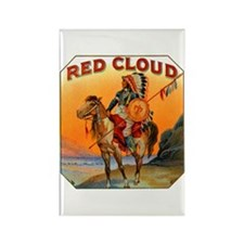 Red Cloud Indian Chief Rectangle Magnet