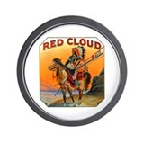 Red Cloud Indian Chief Wall Clock