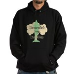 Descended from Dolphins Hoodie (dark)