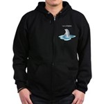 I am a Dolphin Zip Hoodie (dark)