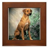 JUBA LEE POPPI 1 PORTRAIT Framed Tile