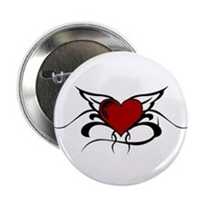 "Winged Heart 2.25"" Button (10 pack)"