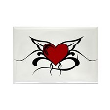 Winged Heart Rectangle Magnet (100 pack)