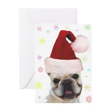 Christmas French Bulldog Greeting Card