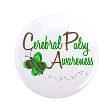 "CP Awareness 1 Butterfly 2 3.5"" Button (100 pack)"