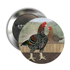 "Spangled Cornish Chickens 2.25"" Button (10 pa"