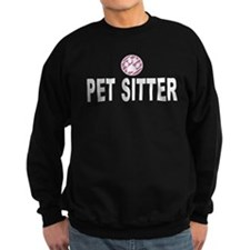 Pet Sitter Pink Stripes Sweatshirt