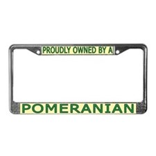 Proudly Owned Pomeranian License Plate Frame