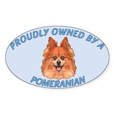 Proudly Owned Pomeranian Decal