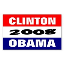 obama clinton in 2008 Rectangle Decal