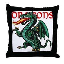 Dragon Cave Throw Pillow
