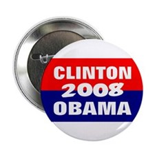 clinton obama in 2008 Button