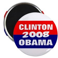 "clinton obama in 2008 2.25"" Magnet (10 pack)"