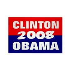 clinton obama in 2008 Rectangle Magnet