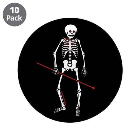 "Hunting Skeleton 3.5"" Button (10 pack)"